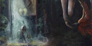 Chiara Donadei - Roberta, 2018-19, tecnica mista su tela, 100x100 cm