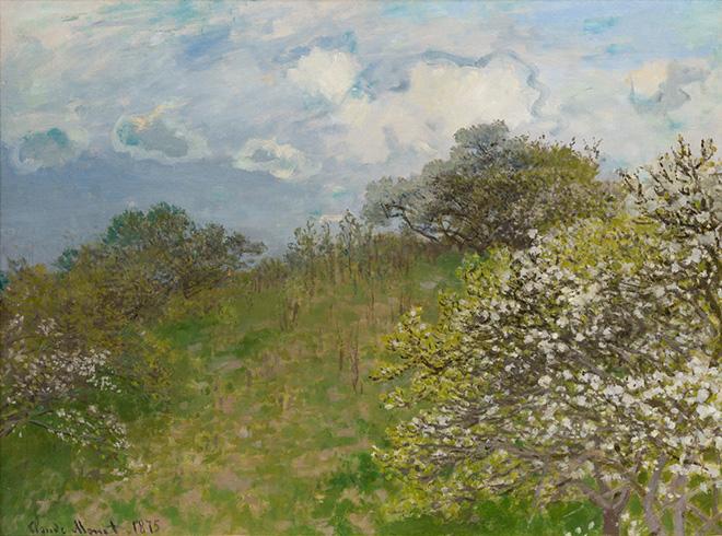 Claude Monet - La primavera, 1875, olio su tela, 58 x 78,5 cm.