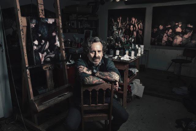 Dan Witz - Portrait in the studio. Credits: Fabrice Trombert