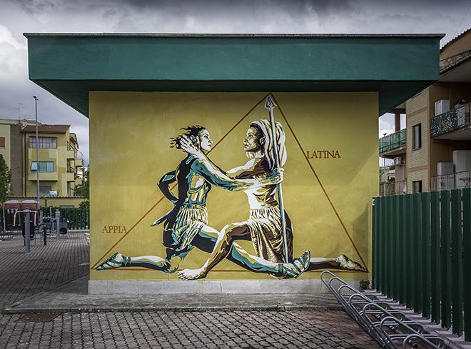 David Diavù Vecchiato - (Appia - Latina), murale, Roma. photo credit: Oscar Giampaoli