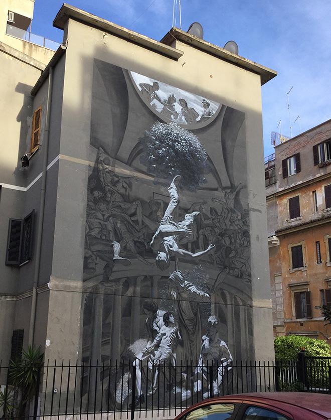 NICOLA VERLATO - Hostia, murale a Torpignattara (Roma). photo credit: Vincenzo de Francesco.