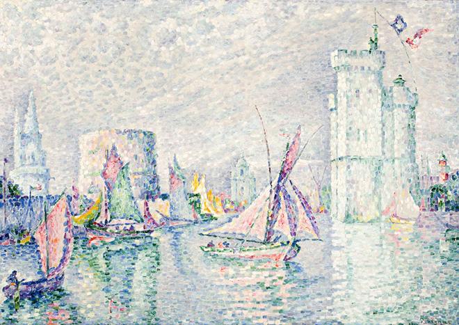 Paul Signac - La Rochelle, 1912, olio su tela, 71,2 x 100 cm.