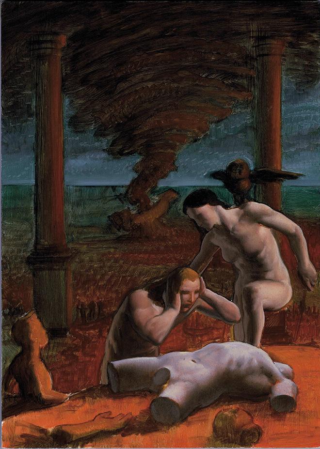 Nicola Verlato - The new Atlantis - Olio su tavola - 25 cm x 35 cm, 2018