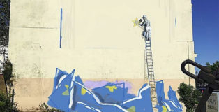 Dover: Banksy - La Brexit e il nuovo murale dipinto su quello cancellato