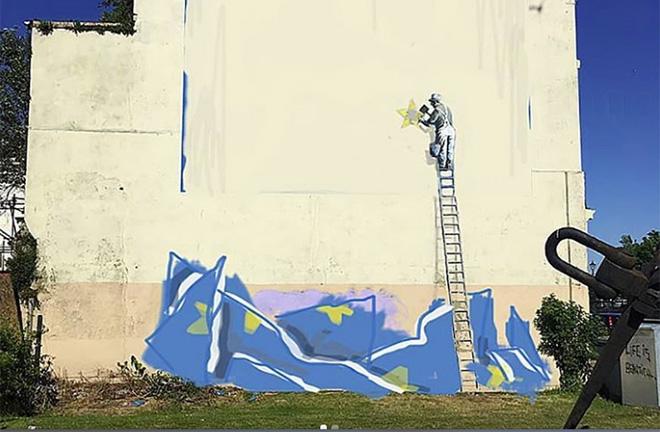 """Banksy – La Brexit e il nuovo """"murale"""" a Dover"""
