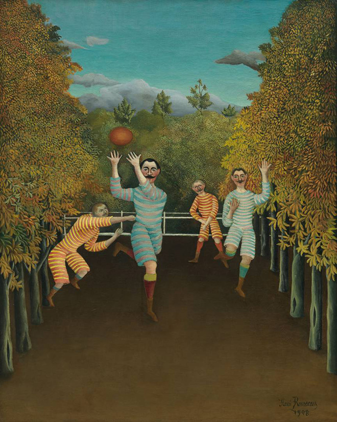 I giocatori di football (Les joueurs de football), 1908, Henri Rousseau. Olio su tela, 100,3 x 80,3 cm, Solomon R. Guggenheim Museum, New York 60.1583, © Solomon R. Guggenheim Foundation, New York (SRGF)