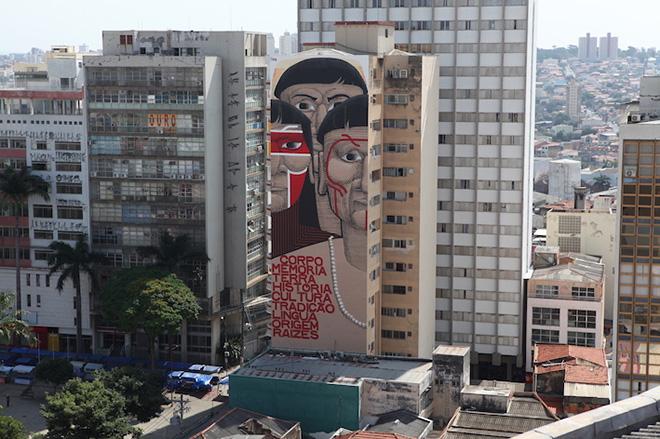 Nunca, Mural, 2017 - Courtesy of Frestas - Art Triennal in Sorocaba, Brazil