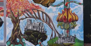 Urban Art Talenti - Giungla Urbana, murale realizzato da Wally degli Orticanoodles e dagli studenti del Liceo Sarandì d Talenti a Roma.