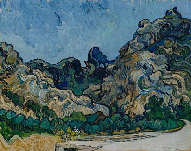 Montagne a Saint-Rémy (Montagnes à Saint-Rémy), Saint-Rémy-de-Provence, luglio 1889, Vincent van Gogh. Olio su tela, 72,8 × 92 cm, Solomon R. Guggenheim Museum, New York, Thannhauser Collection, Gift, Justin K. Thannhauser 78.2514.24, © Solomon R. Guggenheim Foundation, New York (SRGF)