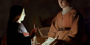Georges de La Tour (studio) - L'educazione della Vergine, 1650 ca. olio su tela, 83.8 x 100.3 cm, The Frick Collection, New York U.S.A.