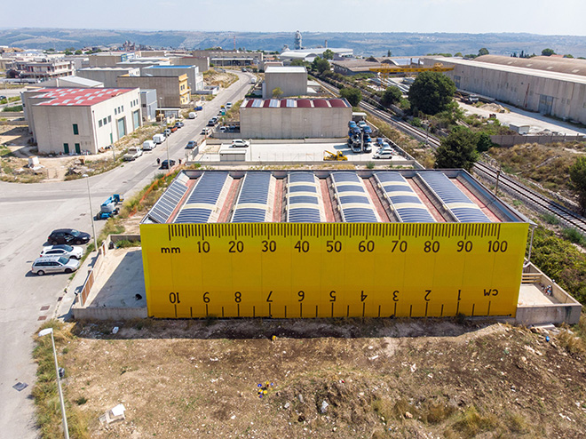 Ampparrito - About Reducing, Reusing and Comtemporary Muralism, FestiWall 2019 - Ragusa, Zona industriale