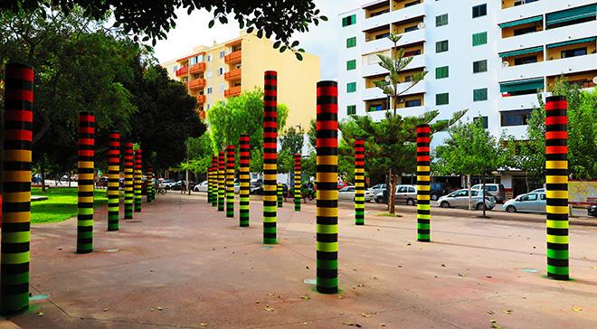 AMADAMA - The Equalizer, BLOOP Festival, OpenAir.Gallery, Ibiza, 2019. Photo credit: Biokip