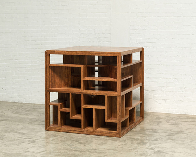 AI WEIWEI - Treasure Box, 2014, legno Huali (Huali wood), 100 x 100 x 100 cm. Courtesy: the artist and GALLERIA CONTINUA, San Gimignano / Beijing / Les Moulins / Habana