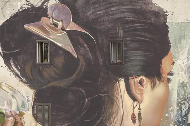 CASE MACLAIM - Dettaglio Opera per Ragusa FestiWall 2019, Prospetto di Via Palma di Montechiaro, Ragusa