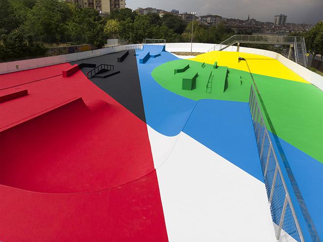 Elian Chali - Traiettorie e forme, FestiWall 2019, Ragusa, Skate Park via Napoleone Colaianni