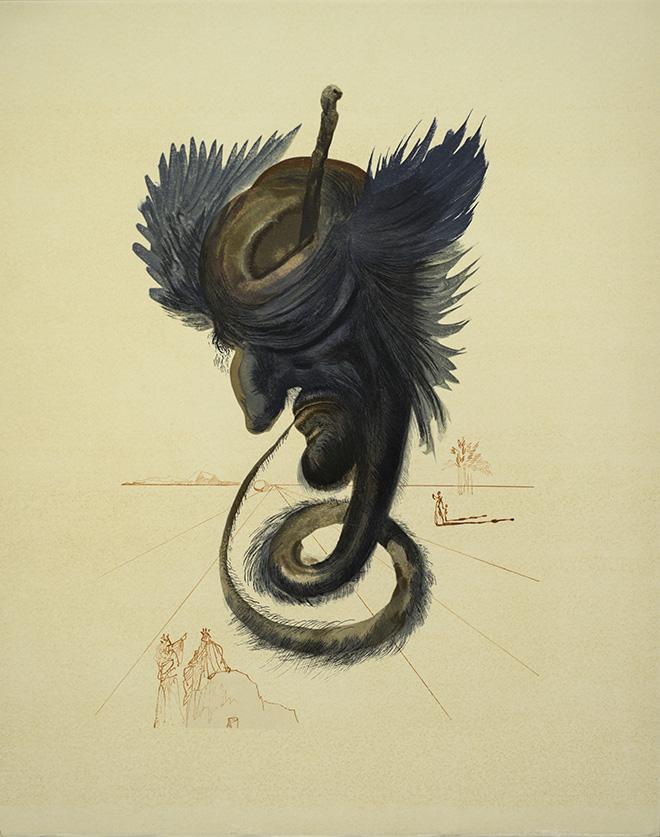 Salvador Dalí - Tauromachia surrealista 4 heliogravure e punta secca cm 50 x 65 1970