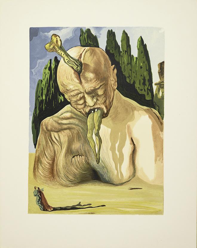 Salvador Dalí - La divina commedia (Canto Inferno) - serie completa 100 xilografie cm 33 x 26 1960-63