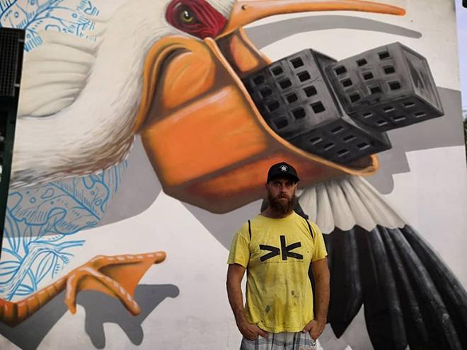 Alessio Bolognesi - Murale (dettaglio), Corbola (Ro), DeltArte il delta della creatività