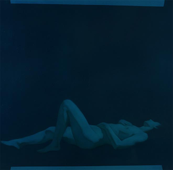 Simone Geraci - Das Fenster, olio su tela, 100 x 100 cm, 2019