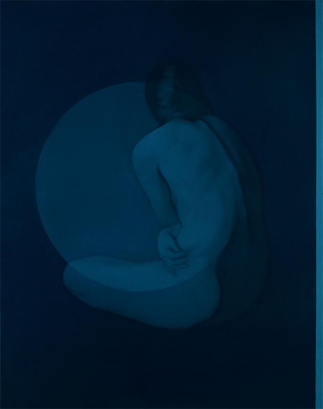 Simone Geraci - Echos, olio su tela, 100 x 80 cm, 2019