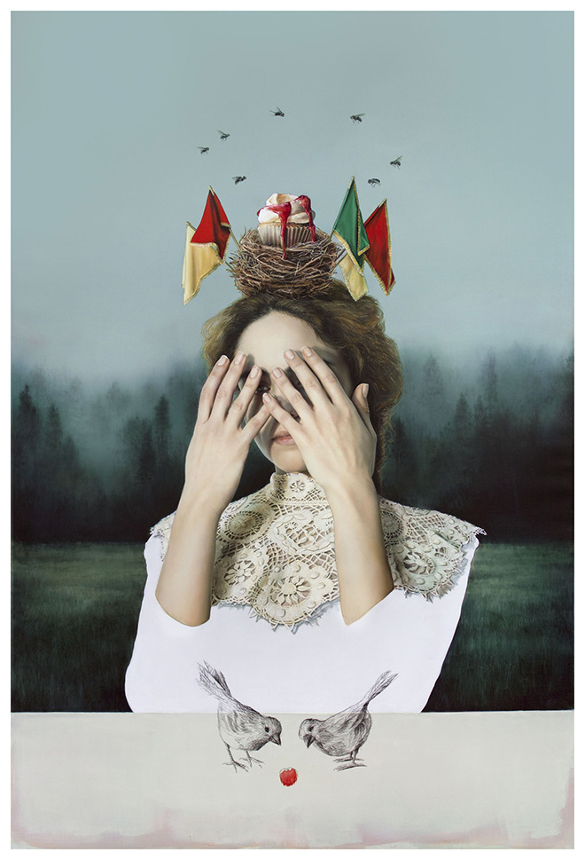 Elisa Anfuso - Mademoiselle X (II), olio su lino / oil on linen canvas, 180x120 cm, 2019