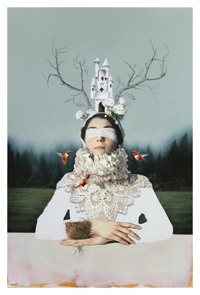 Elisa Anfuso - Mademoiselle X (III), olio su lino / oil on linen canvas, 180x120 cm, 2019
