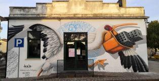 Alessio Bolognesi - Murale, Corbola (Ro), DeltArte il delta della creatività