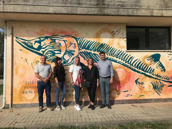 Jessica Ferro - murale a Rosolina, Palazzetto dello sport