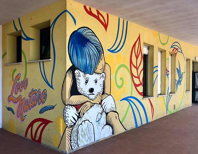Zentequerente - murale, scuola dell'infanzia Pollicino di Codigoro