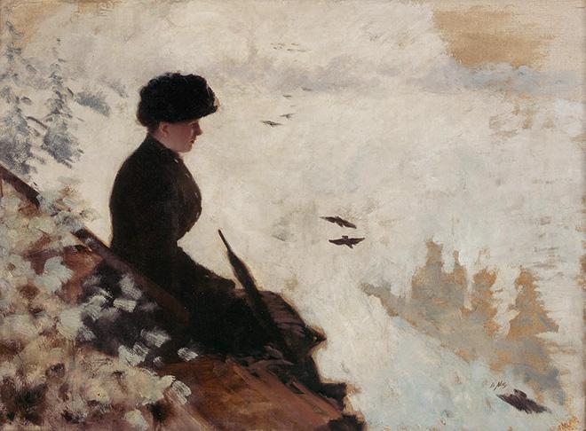 Giuseppe De Nittis. Effetto di Neve, c. 1880, olio su tela, cm. 54x73. Barletta, Pinacoteca Giuseppe De Nittis