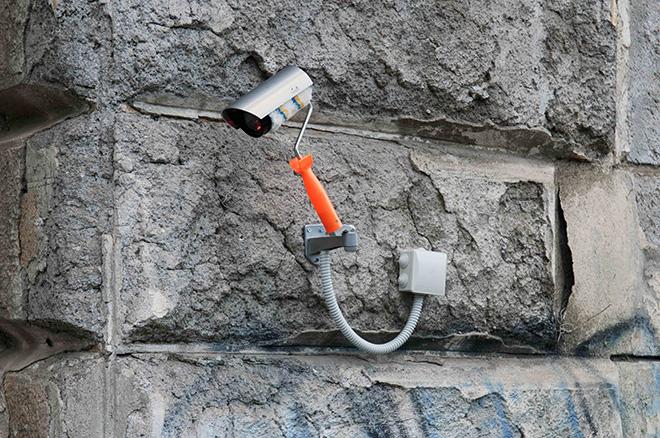 Biancoshock - GRAFFITI CCTV, Roma, Italy, 2018. Credits: Carmelo Battaglia