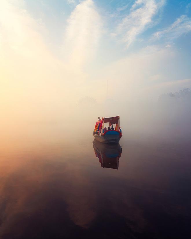 Jatin Khandelwal - Flying boat, 2019, Vrindavan, cm 56x51