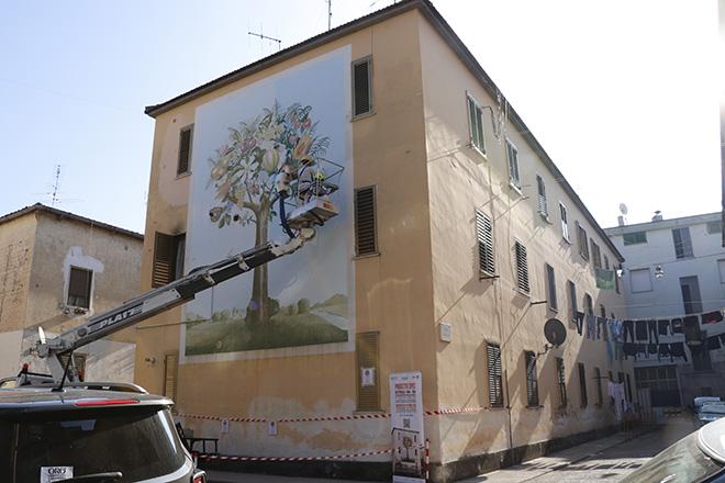 Restauro Albero del Domani - Progetto SPES, Battipaglia
