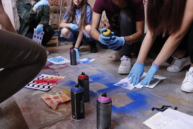 Workshop per Liceo Artistico di Eboli - a.DNA, YoCoCu, progetto SPES, Battipaglia