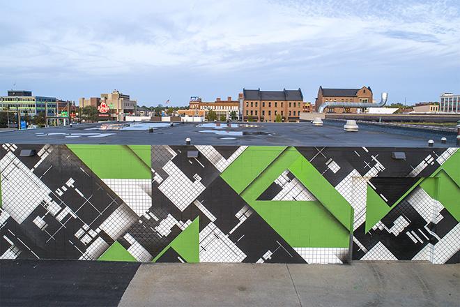 ZEDZ – Geometrie senza confini. Il nuove murale ad Erie