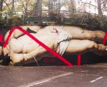 OZMO - Il sogno di San Sebastiano (The Dream of Saint Sebastian), Le MUR12, Paris. photo credit: Ana Raga