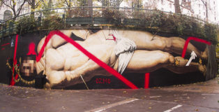 OZMO - Il sogno di San Sebastiano (The Dream of Saint Sebastian), Le MUR12, Paris. photo credit: Ana Raga