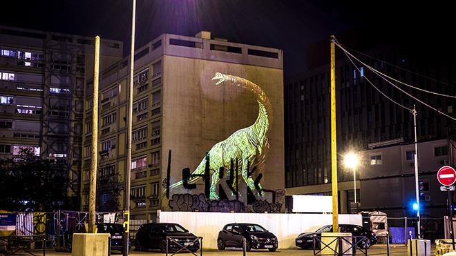 The Green Brachiosaurus - Julien NONNON, Prehistoric Safari, Paris, ©Julien NONNON