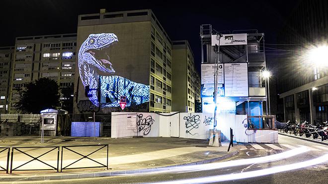 The Blue Raptor II - Julien NONNON, Prehistoric Safari, Paris, ©Julien NONNON