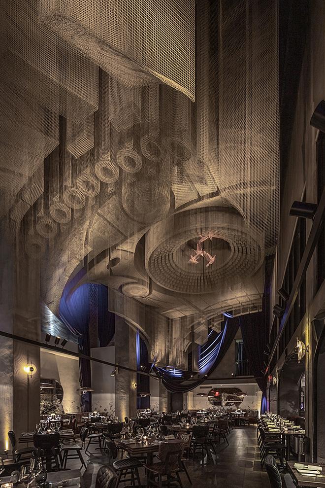 Tresoldi Studio - Fillmore, Ristorante Cathédrale, Hotel Moxy East Village, New York, photo credit: © Roberto Conte