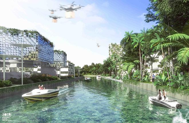 Stefano Boeri Architetti - Smart Forest City Cancun. photo credit: The Big Picture Federico Biancullo, courtesy of Stefano Boeri Architetti.