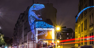 The Blue Raptor - Julien NONNON, Prehistoric Safari, Paris, ©Julien NONNON