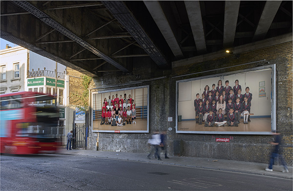 Steve McQueen Year 3 Project. A partnership between Tate, Artangel and A New Direction © Steve McQueen & Tate. Courtesy of Artangel. Billboard location: Coldharbour Lane, London Borough of Lambeth. Billboard photographed in situ by Theo Christelis