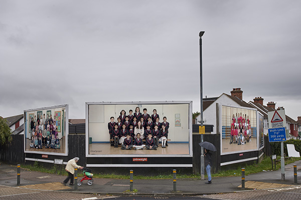 Steve McQueen Year 3. A partnership between Tate, Artangel and A New Direction. © Steve McQueen & Tate. Courtesy of Artangel. Billboard location: Chestnut Grove and Sherwood Park Road, London Borough of Merton. Billboard photographed in situ by Theo Christelis