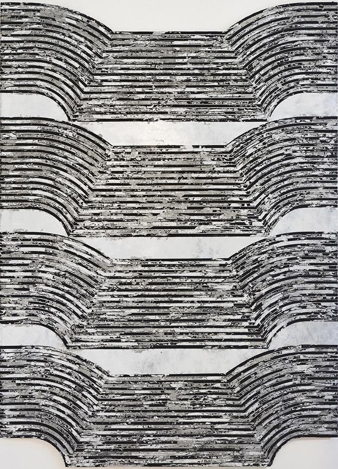 Martina Merlini - Untitled, tecnica mista su tavola, 120x168 cm. MAGMA Gallery
