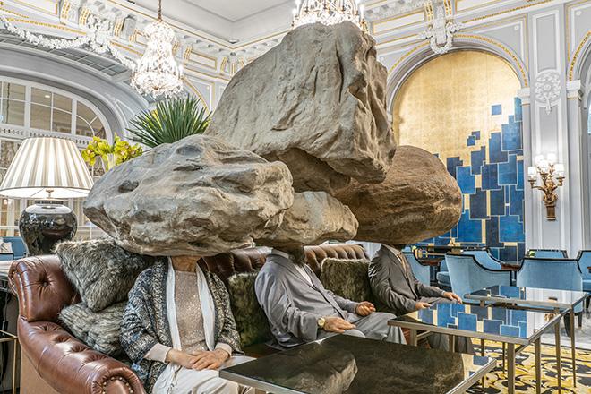 SUN YUAN & PENG YU - Teenager Teenager, 2011, simulation of sculpture, sofa, simulation of stone. Courtesy: the artist and GALLERIA CONTINUA. Photo by: Ela Bialkowska, OKNO Studio.