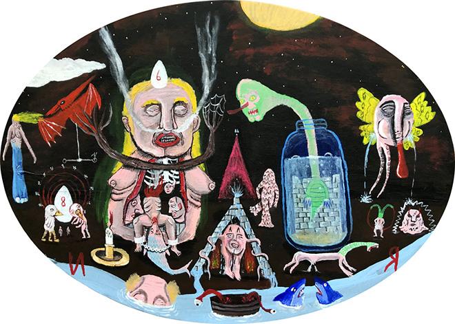 Tommaso Buldini - Visitor, acrilico su tela, 50x70 cm