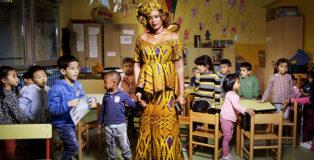 Tutte le ore del mondo - A scuola, Mareme e gli alunni della classe gialla, scuola Marco Polo, @FondazioneBracco, Gerald Bruneau