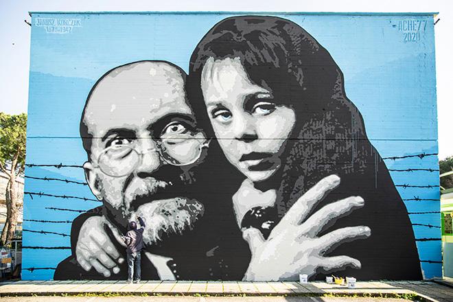 """""""L'eredità"""" – Intervento murale di ACHE77"""