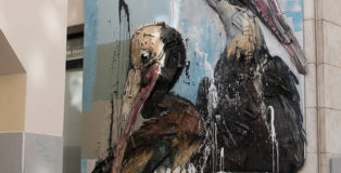 Bordalo II - Pelicans, Lisbon, 2020. photo credit: Mike Doorline